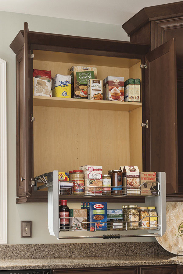 WALL CABINET WITH PULL DOWN SHELF
