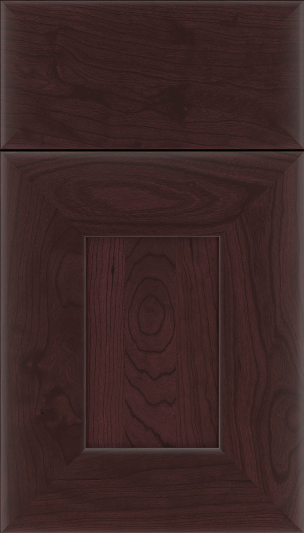 Napoli Cherry flat panel cabinet door in Bordeaux