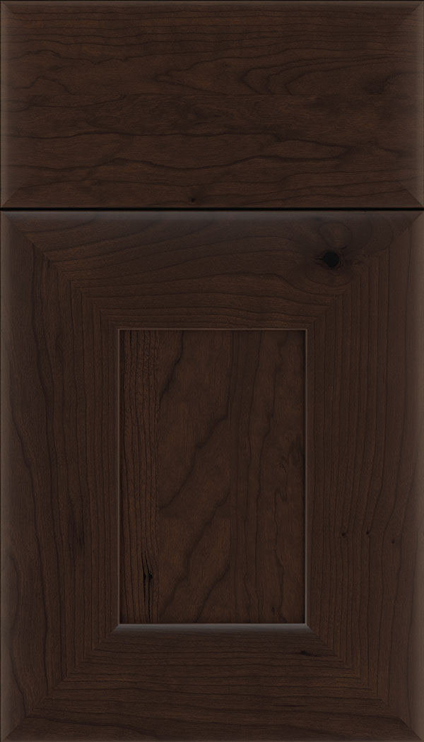 Napoli Cherry flat panel cabinet door in Cappuccino