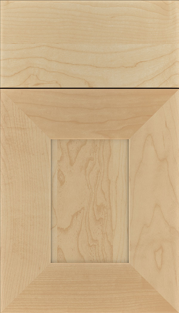 Napoli Maple flat panel cabinet door in Natural