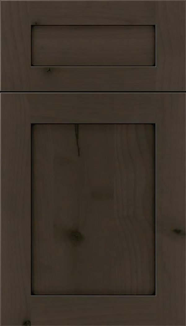 Salem 5pc Alder shaker cabinet door in Thunder with Black glaze