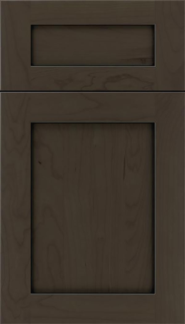 Salem 5pc Cherry shaker cabinet door in Thunder with Black glaze