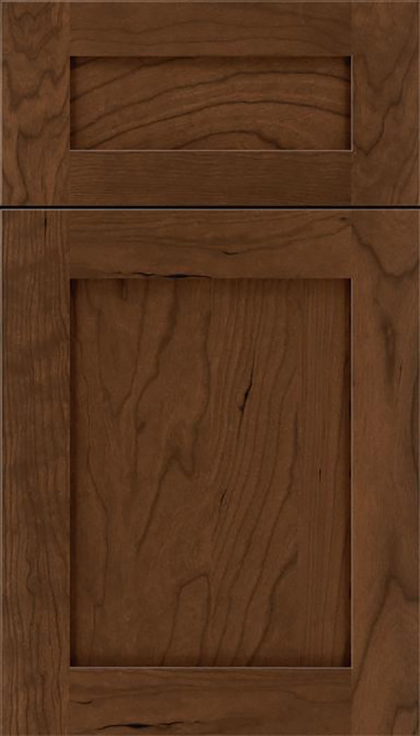 Salem 5pc Cherry shaker cabinet door in Sienna