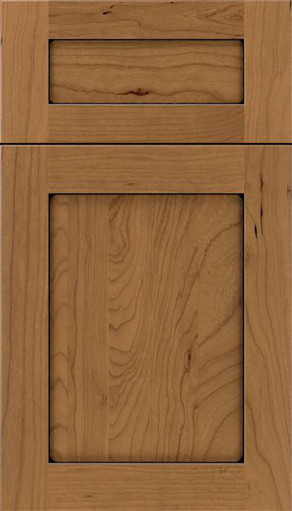 Salem 5pc Cherry shaker cabinet door in Tuscan with Black glaze