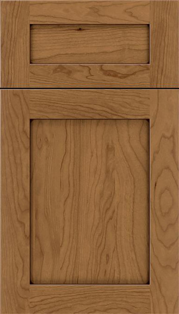 Salem 5pc Cherry shaker cabinet door in Tuscan with Mocha glaze
