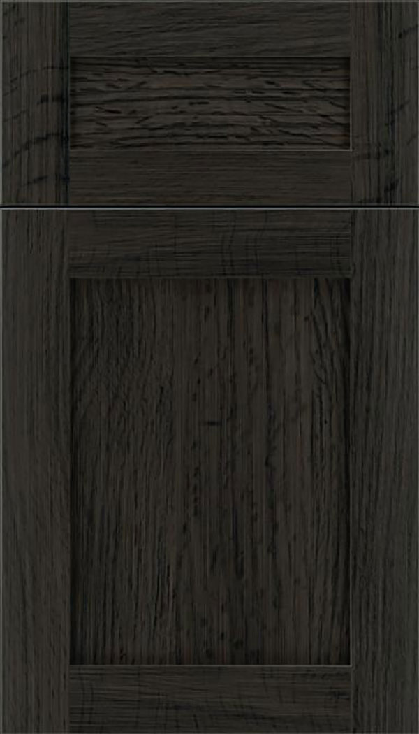 Salem 5pc Quartersawn Oak shaker cabinet door in Weathered Slate