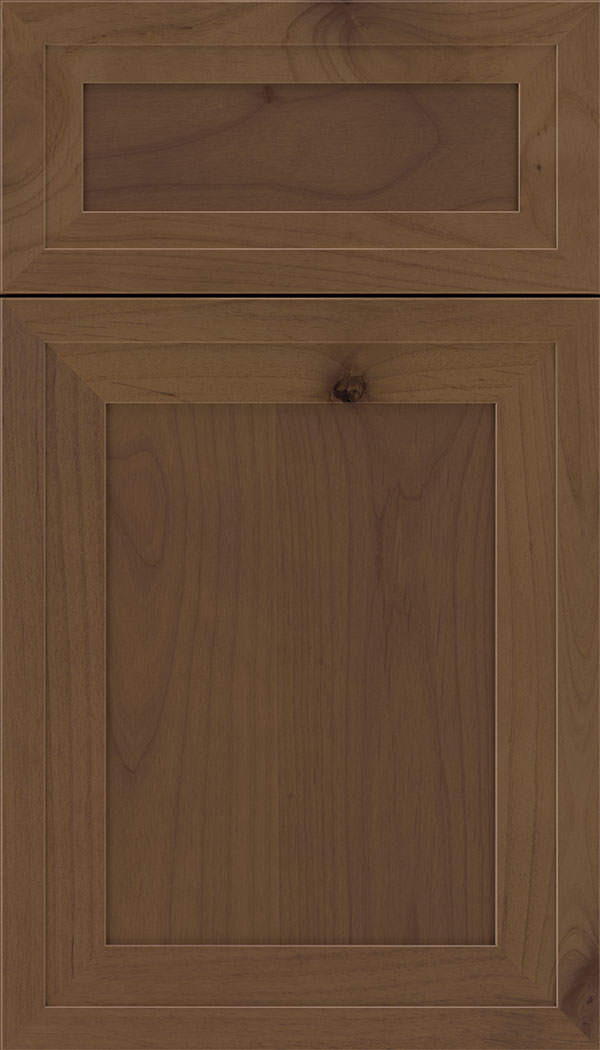 Asher 5pc Alder flat panel cabinet door in Sienna