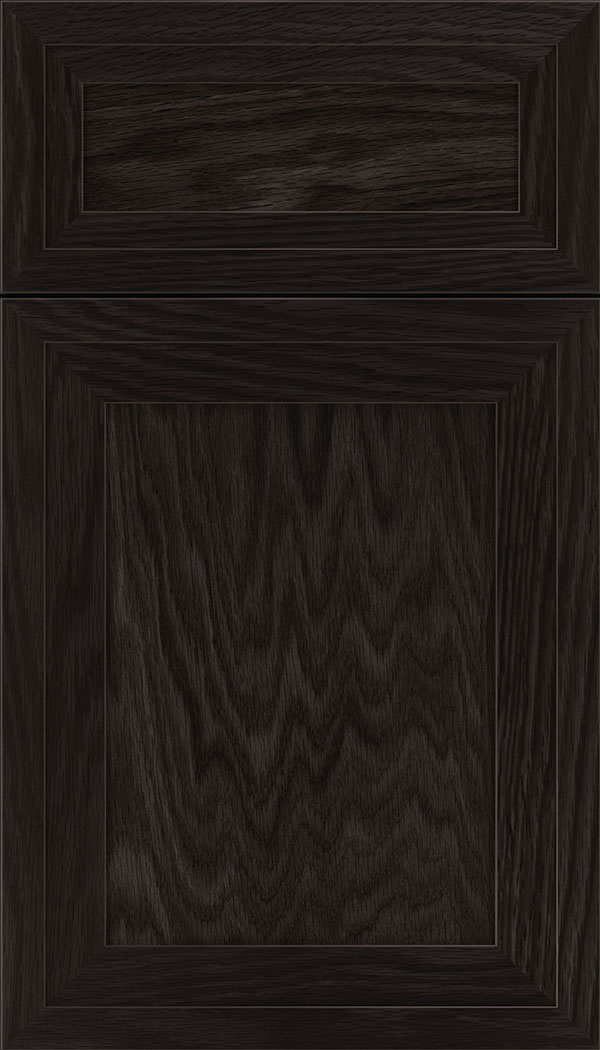 Asher 5pc Oak flat panel cabinet door in Charcoal