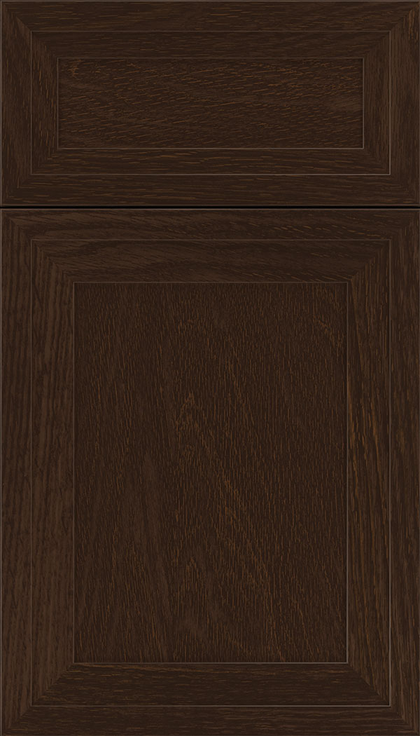 Asher 5pc Oak flat panel cabinet door in Cappuccino