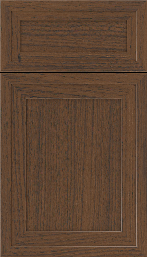 Asher 5pc Rift Oak flat panel cabinet door in Toffee