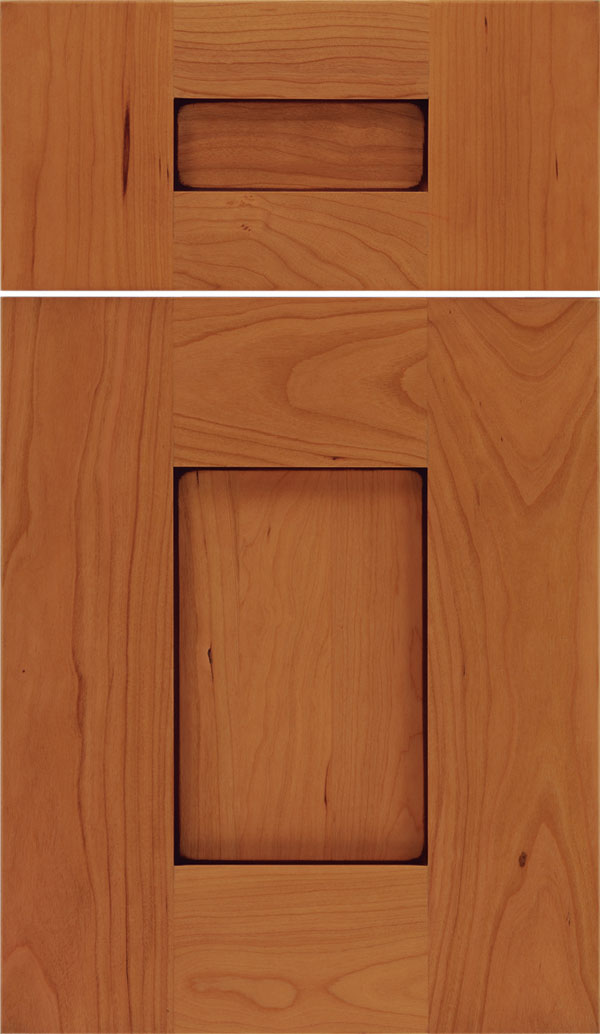 Newhaven 5pc Cherry shaker cabinet door in Ginger with Mocha glaze