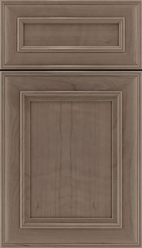 Sheffield 5pc Cherry recessed panel cabinet door in Winter