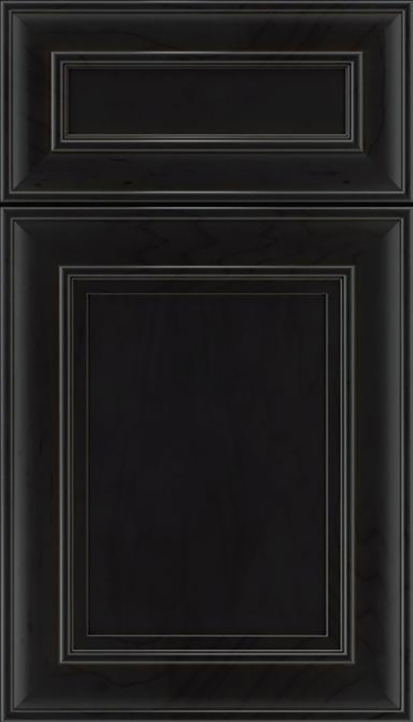 Sheffield 5pc Maple recessed panel cabinet door in Charcoal