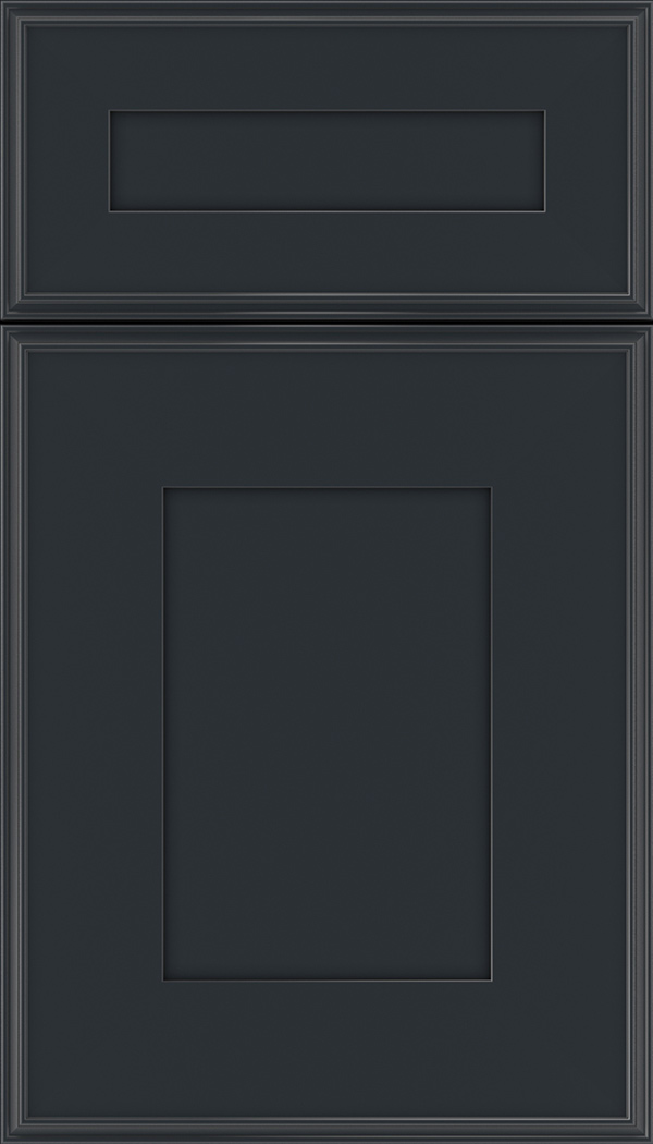 Elan 5pc Maple flat panel cabinet door in Gunmetal Blue