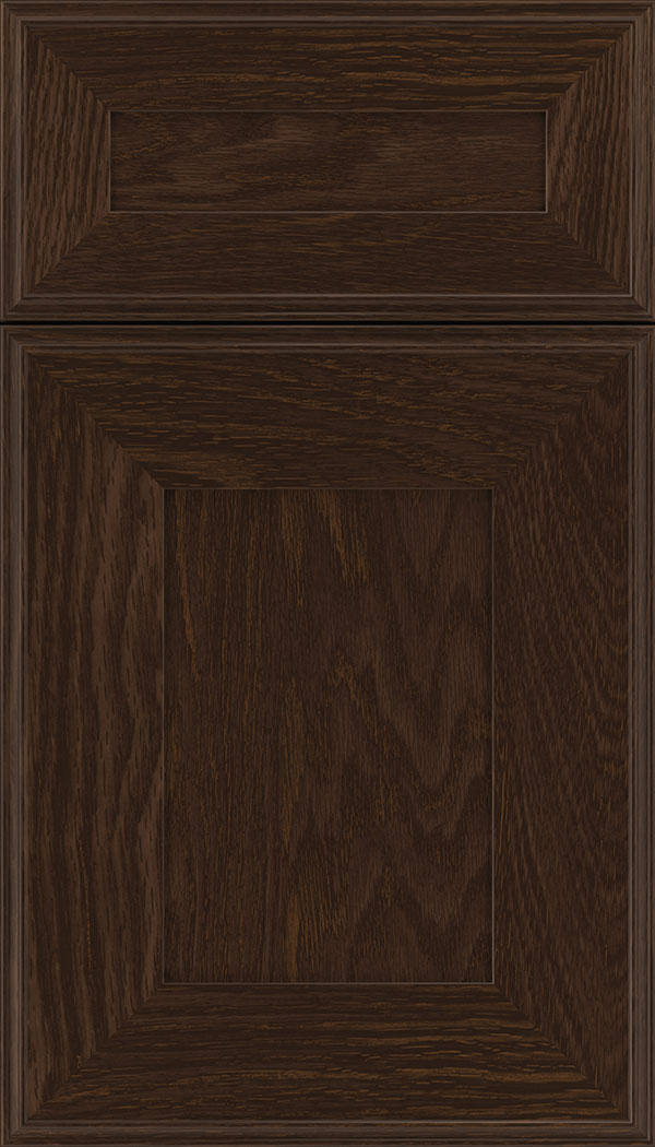 Elan 5pc Oak flat panel cabinet door in Cappuccino