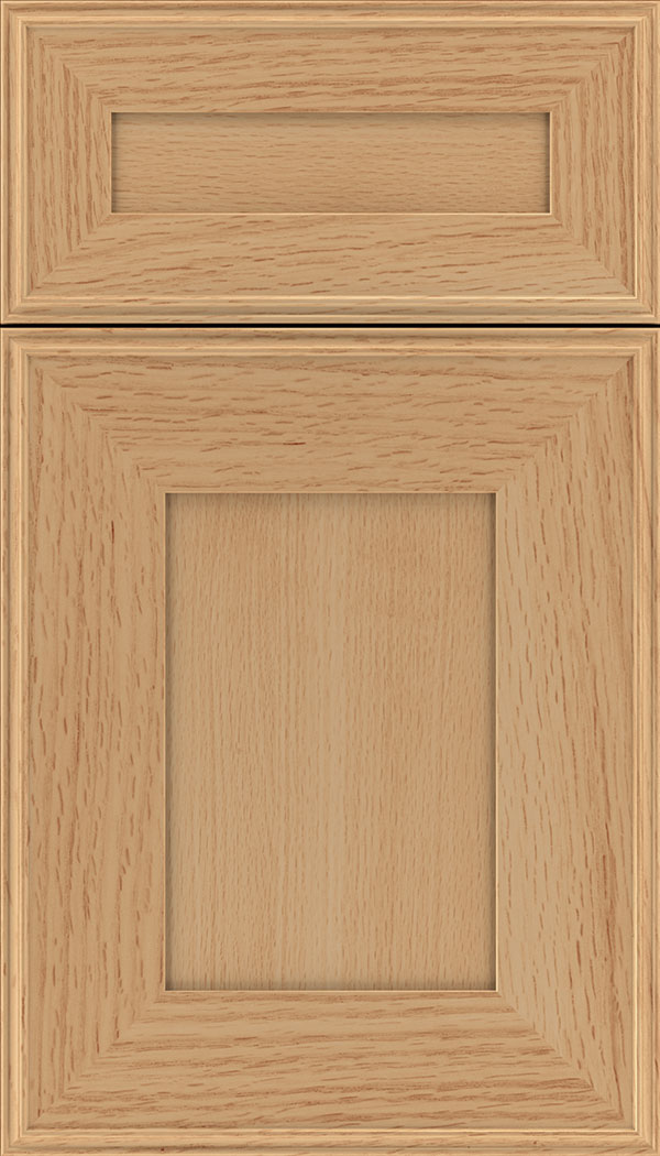 Elan 5pc Quartersawn Oak flat panel cabinet door in Honey