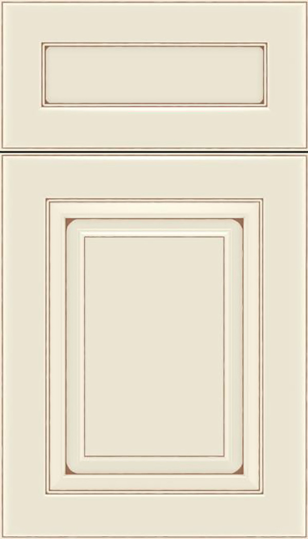 Paxson 5pc Maple raised panel cabinet door in Seashell with Suede