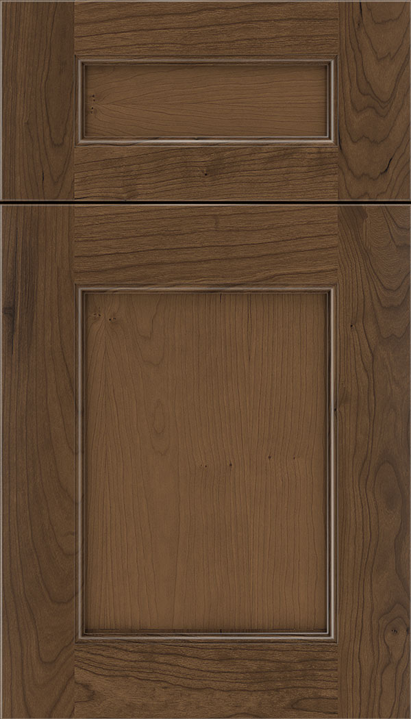 Lexington 5pc Cherry recessed panel cabinet door in Toffee
