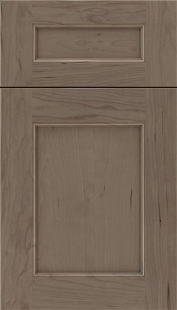 Lexington 5pc Cherry recessed panel cabinet door in Winter