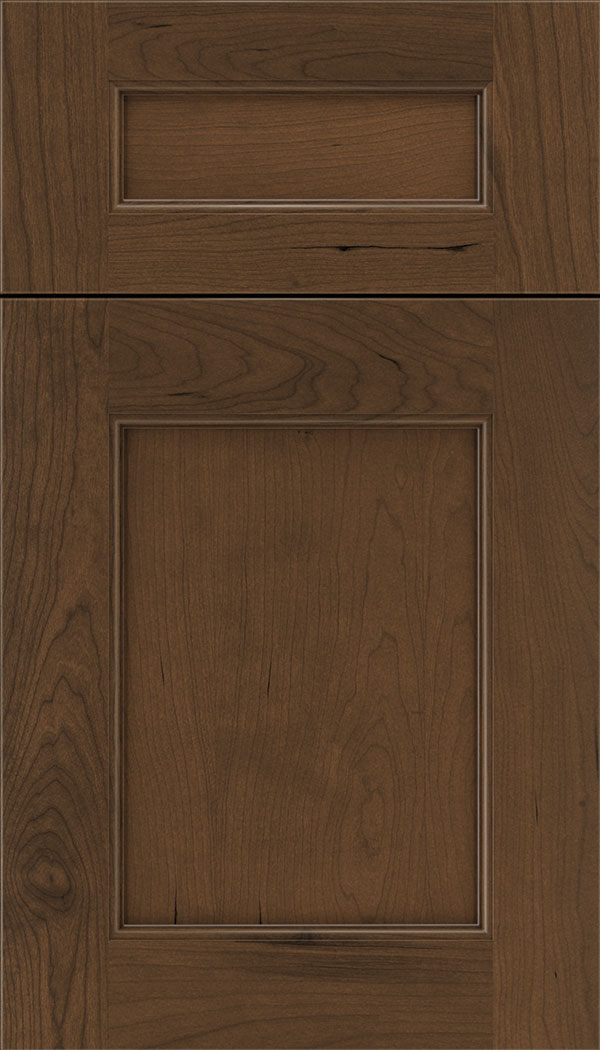 Lexington 5pc Cherry recessed panel cabinet door in Sienna