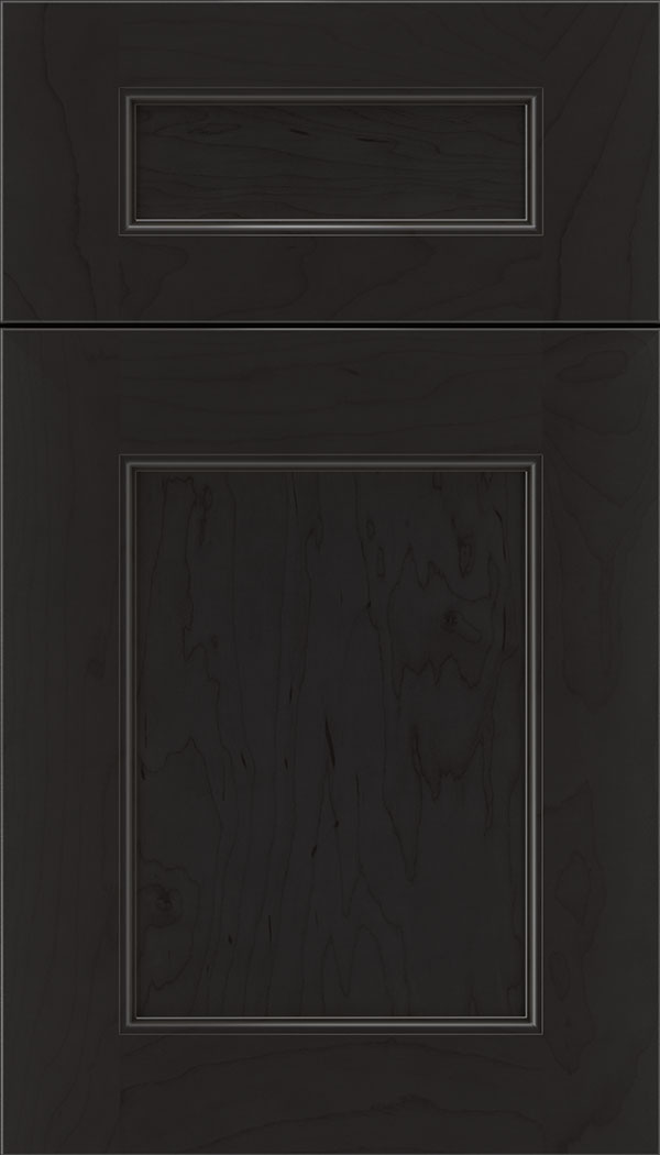 Lexington 5pc Maple recessed panel cabinet door in Charcoal