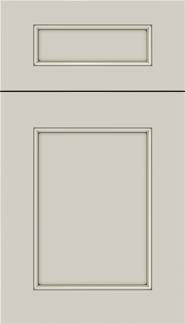 Lexington 5pc Maple recessed panel cabinet door in Cirrus with Smoke glaze
