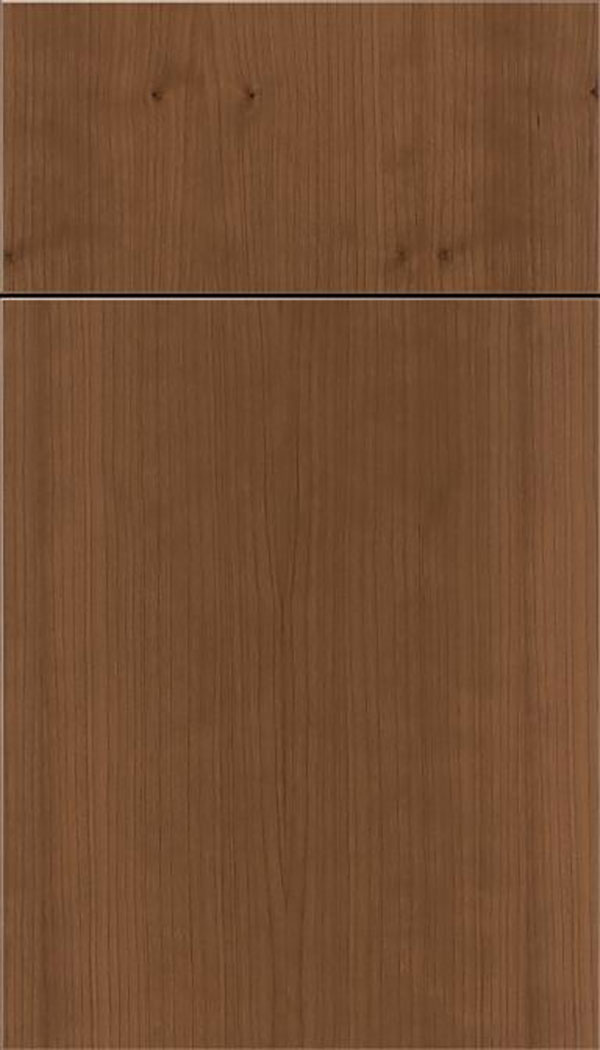 Summit Cherry slab cabinet door in Toffee