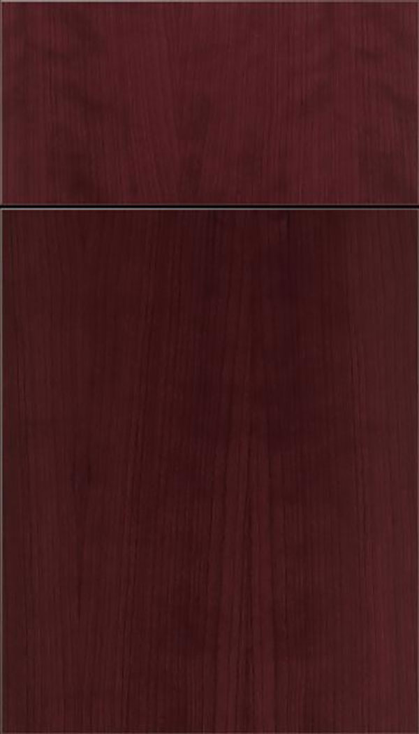 Summit Cherry slab cabinet door in Bordeaux