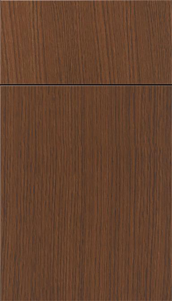 Summit Rift Oak slab cabinet door in Toffee