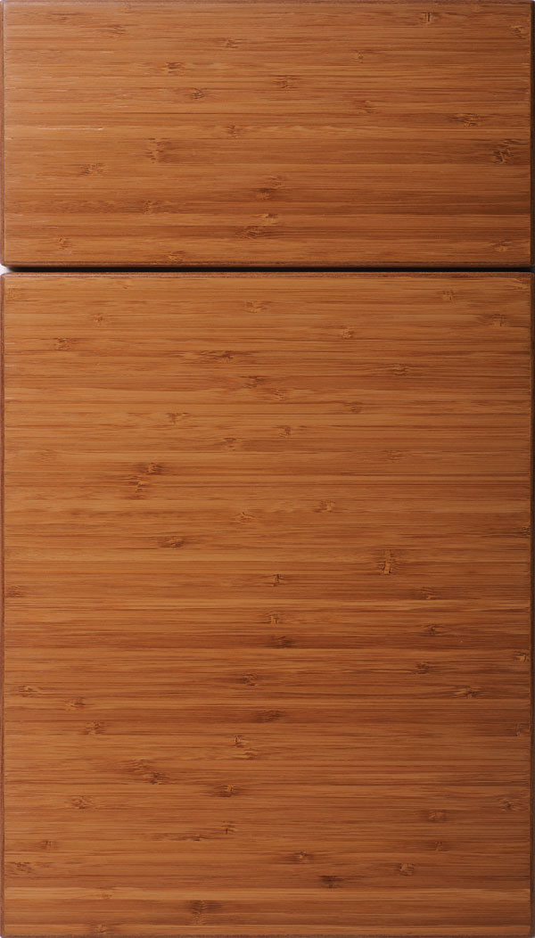 Summit horizontal Bamboo slab cabinet door in Natural