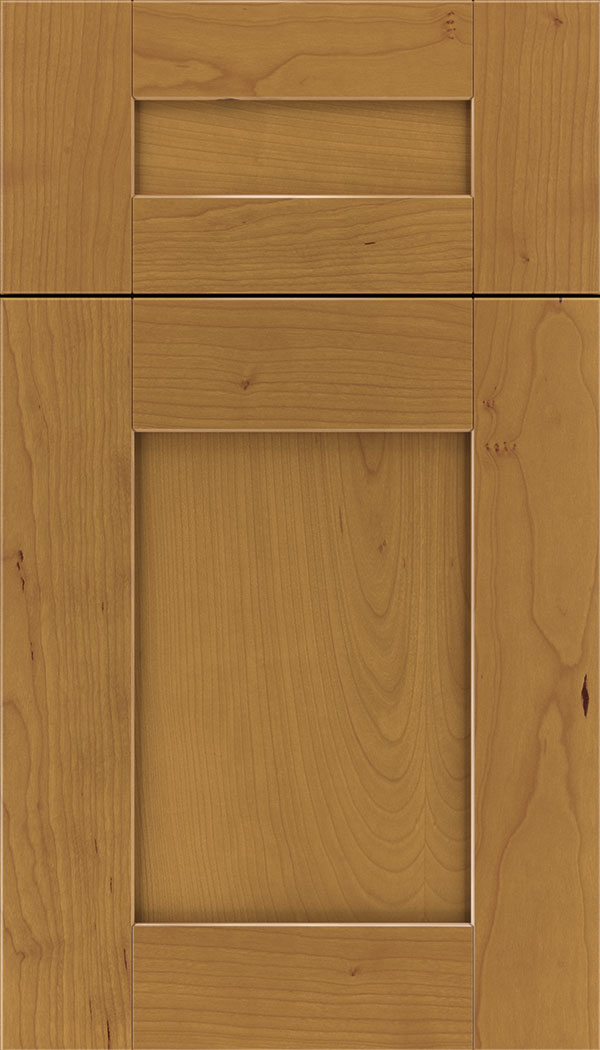 Pearson 5pc Cherry flat panel cabinet door in Ginger