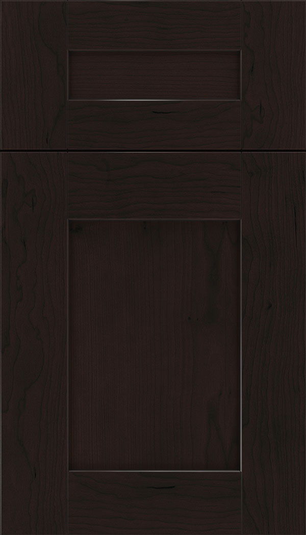 Pearson 5pc Cherry flat panel cabinet door in Espresso with Black glaze
