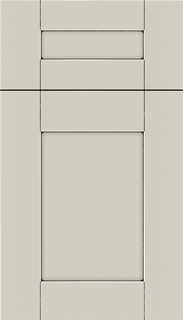 Pearson 5pc Maple flat panel cabinet door in Cirrus with Black glaze