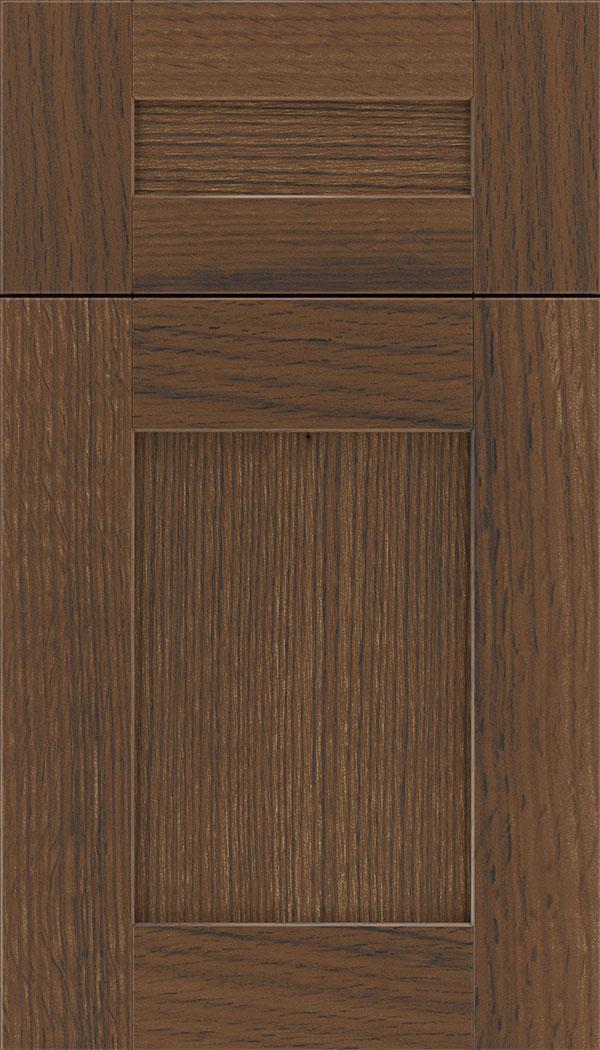 Pearson 5pc Quartersawn Oak flat panel cabinet door in Toffee