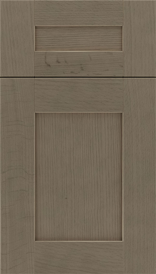 Pearson 5pc Quartersawn Oak flat panel cabinet door in Winter