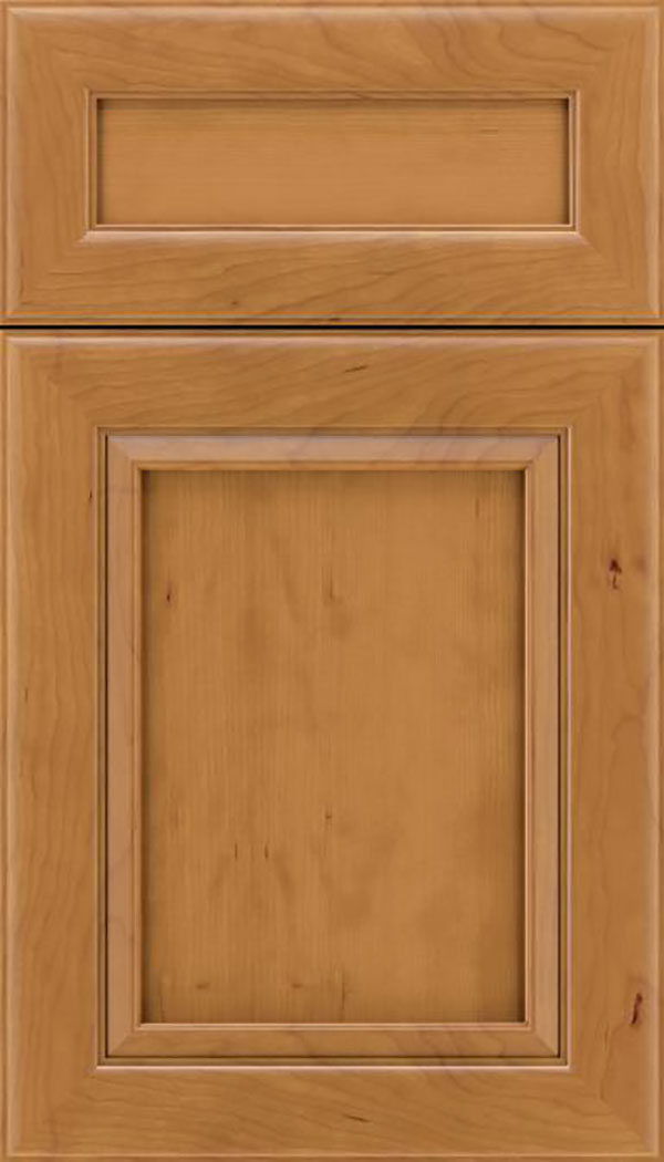 Paloma 5pc Cherry flat panel cabinet door in Ginger