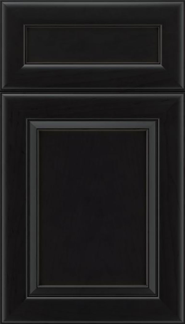 Paloma 5pc Maple flat panel cabinet door in Charcoal