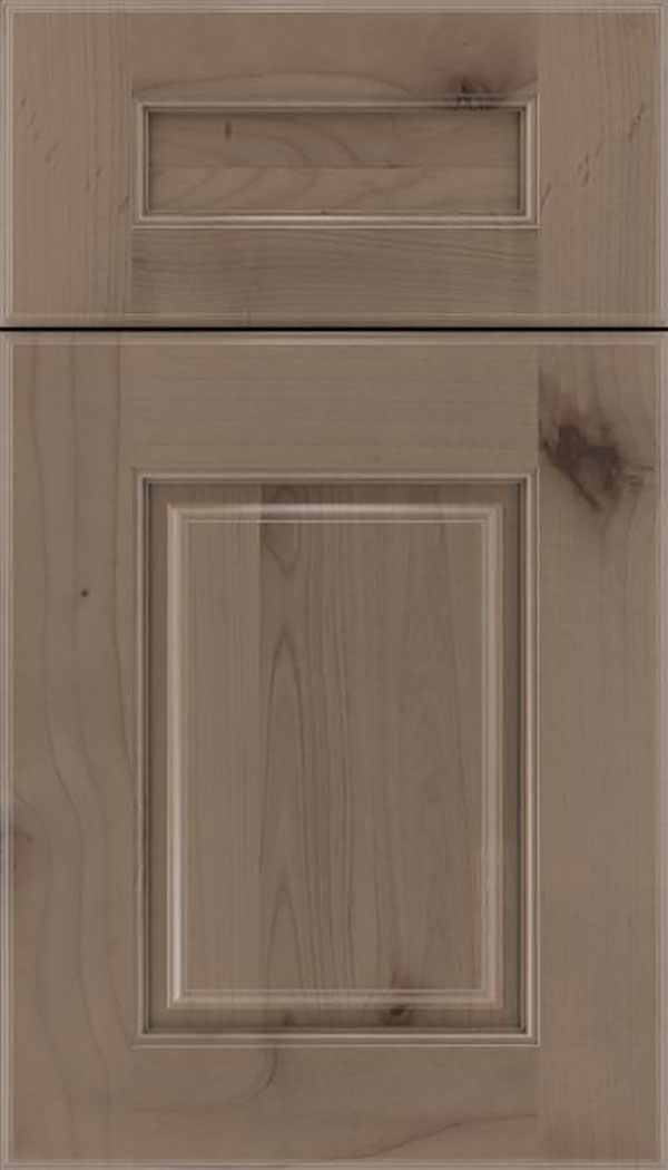 Whittington 5pc Alder raised panel cabinet door in Winter with Pewter glaze