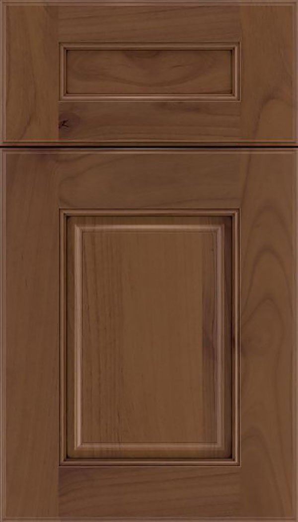 Whittington 5pc Alder raised panel cabinet door in Sienna with Mocha glaze