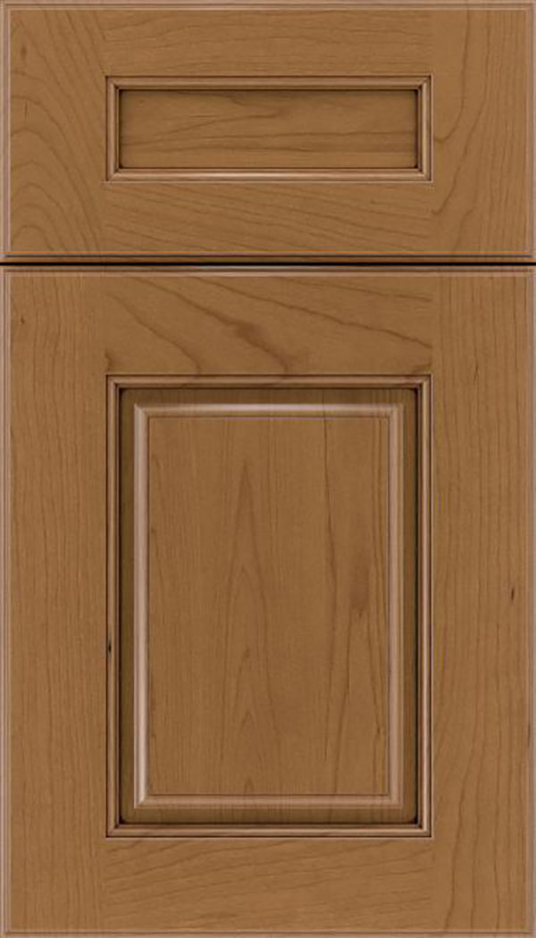 Whittington 5pc Cherry raised panel cabinet door in Tuscan with Mocha glaze