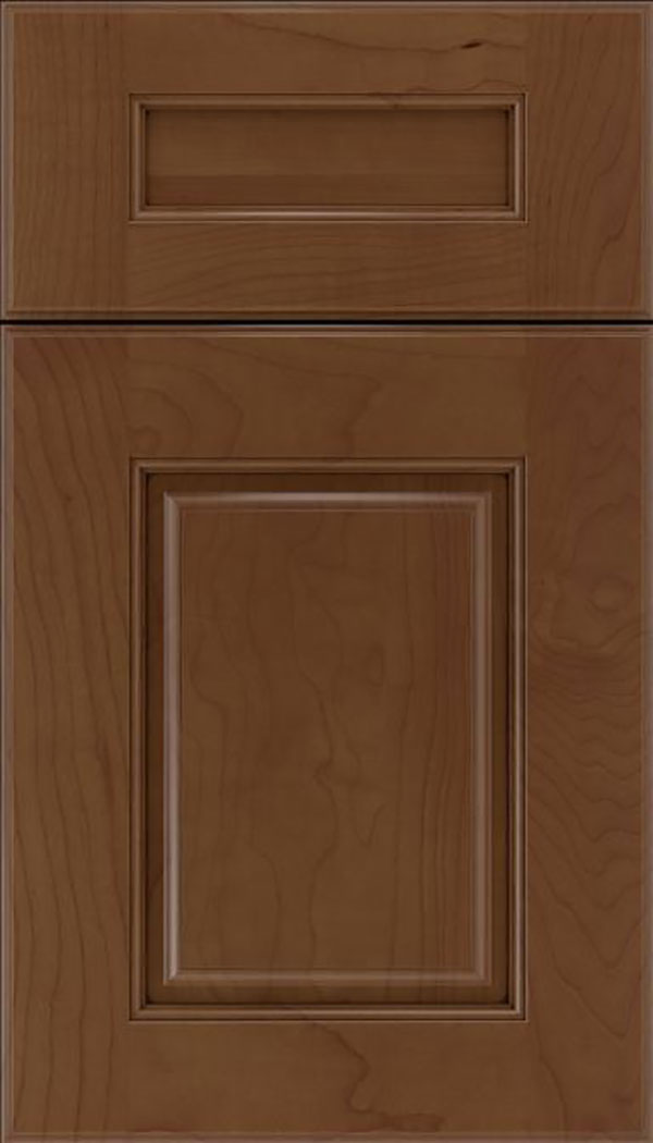 Whittington 5pc Maple raised panel cabinet door in Sienna with Mocha glaze