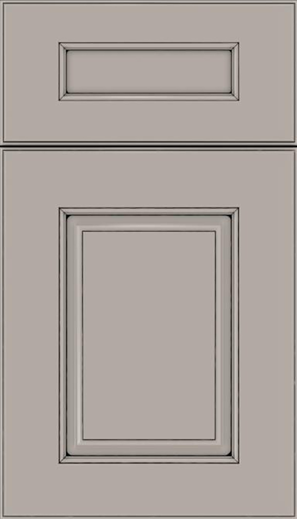 Whittington 5pc Maple raised panel cabinet door in Nimbus with Black glaze