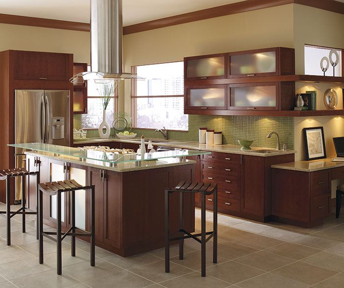 Contemporary Kitchen Cherry Rhubarb