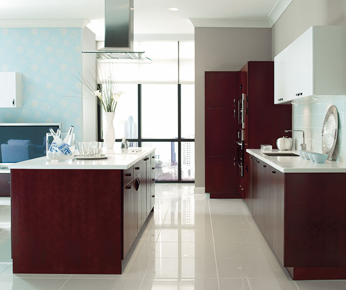 Contemporary Kitchen Cherry Mulberry K3