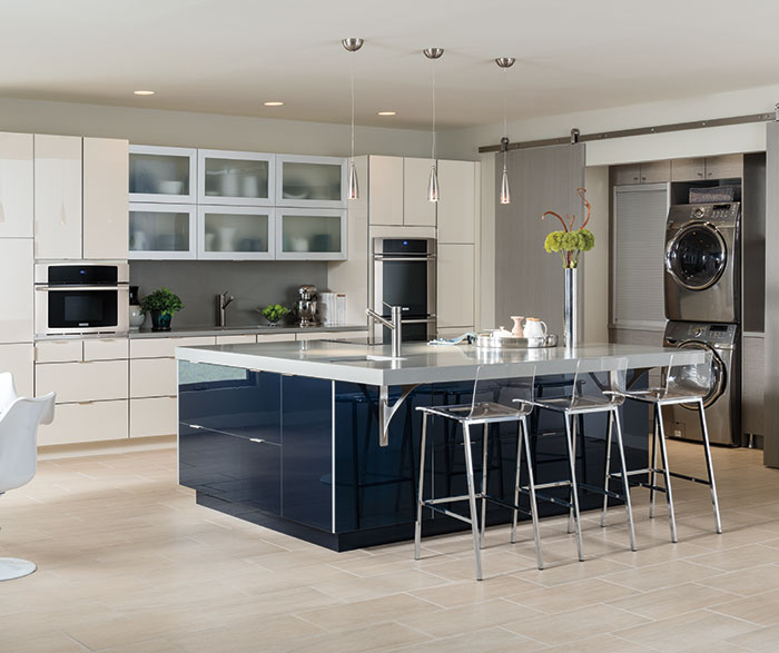 Contemporary Kitchen Acrylic Indigo and Calais