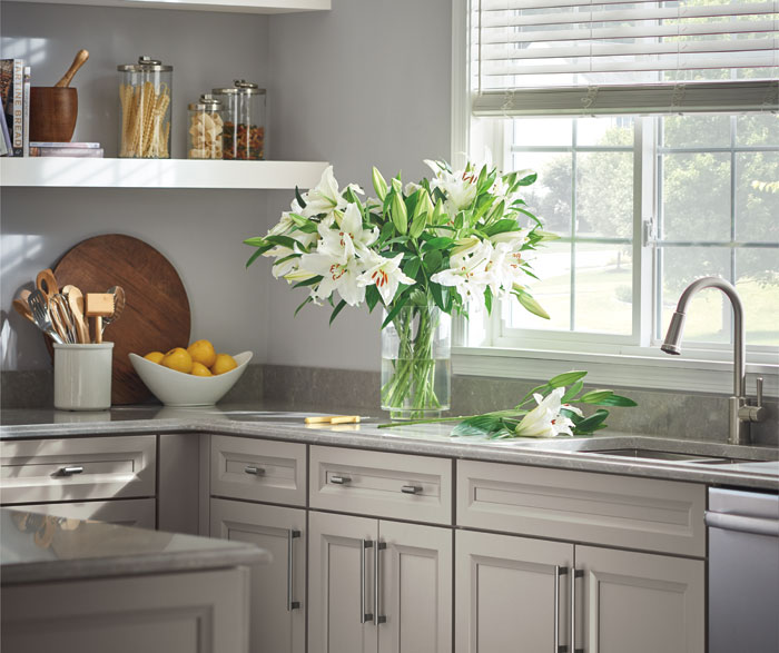 wooden thomasville cabinets kitche design | Thomasville - Russell Maple White and Sterling