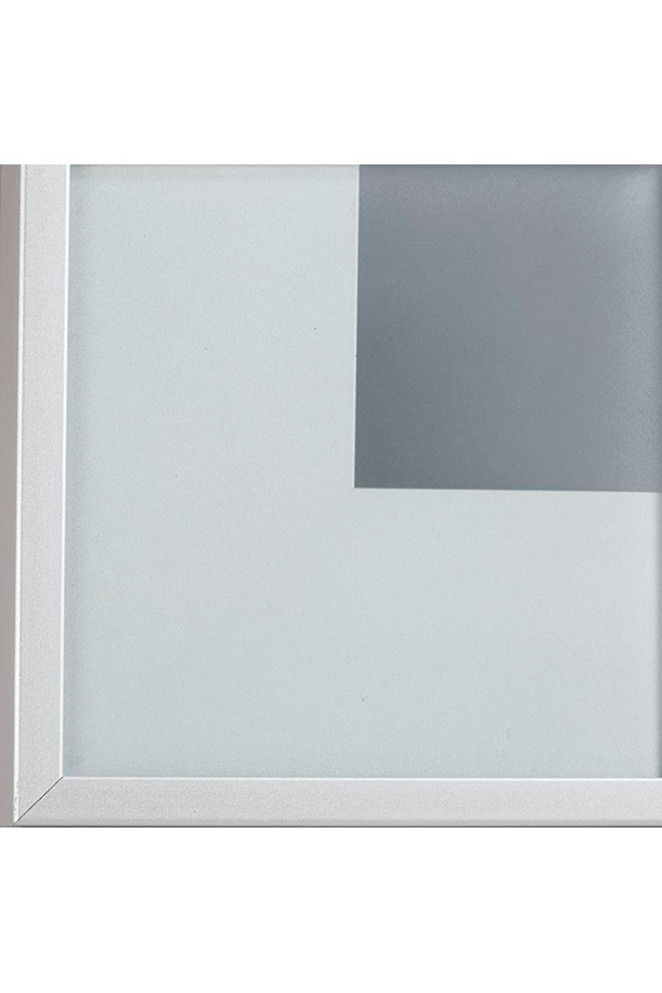 SATIN GLASS CABINET INSERT FOR ALUMINUM FRAMED DOORS