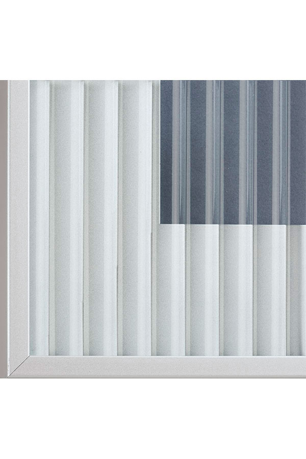 Reeded GLASS CABINET INSERT FOR ALUMINUM FRAMED DOORS